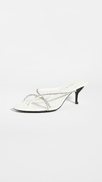 3.1 Phillip Lim Kiddie 系带水钻凉鞋 55mm
