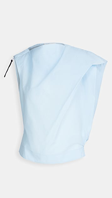 3.1 Phillip Lim Airy Cotton Asymmetric Top