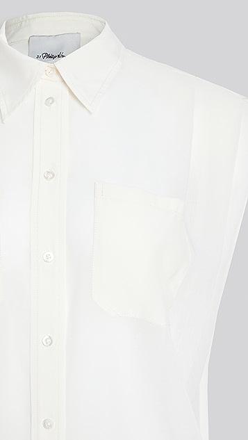 3.1 Phillip Lim 小肩袖巴里纱女式衬衫