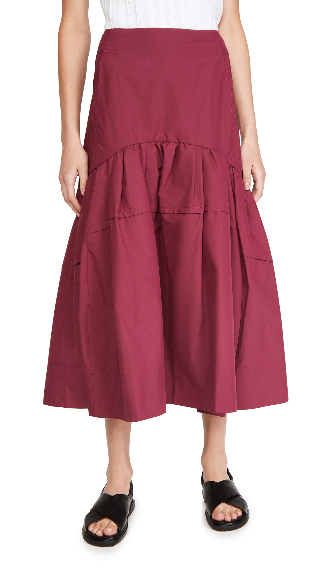 3.1 Phillip Lim Shirred Midi Skirt