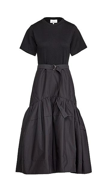 3.1 Phillip Lim 短袖系腰带 T 恤连衣裙