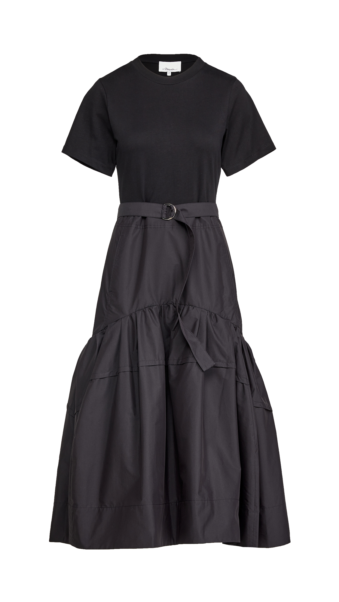 3.1 Phillip Lim Short Sleeve Belted Tee Dress