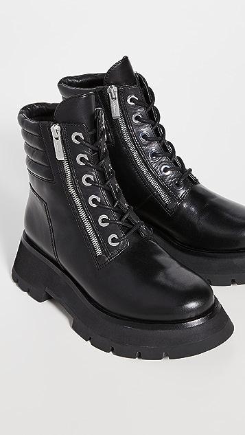3.1 Phillip Lim Kate 沟纹鞋底双拉链靴子