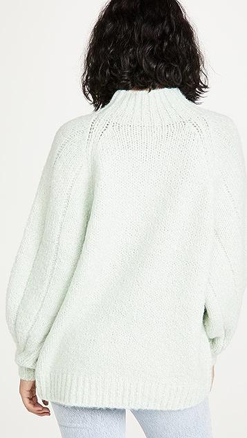 3.1 Phillip Lim 长袖羊驼毛羊毛毛衣