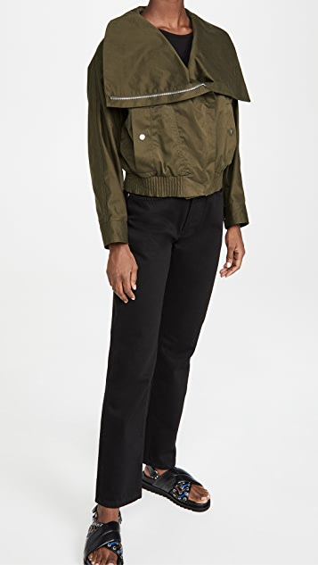3.1 Phillip Lim 加大衣领斜纹织物夹克