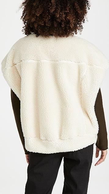 3.1 Phillip Lim 仿羊羔绒粘合茧型背面马甲
