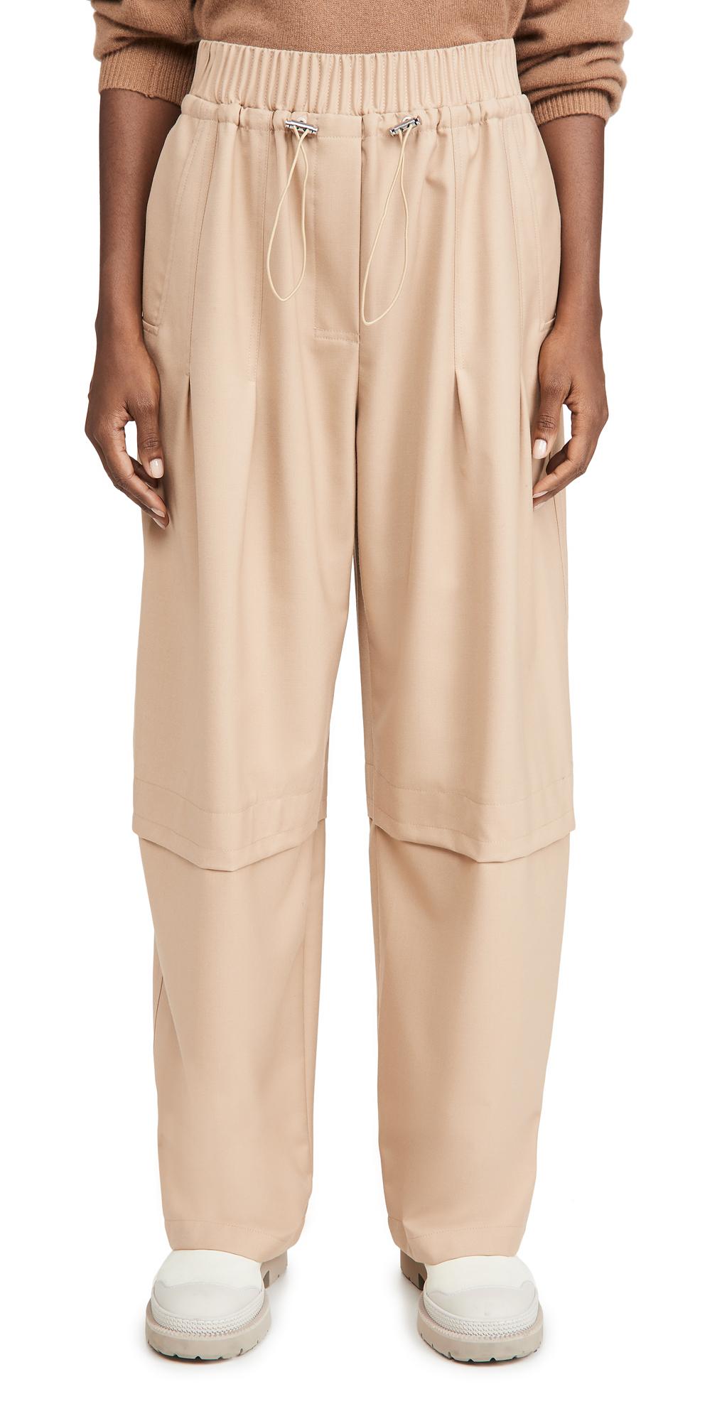 3.1 Phillip Lim Wool Serge Gathered Drawstring Pants