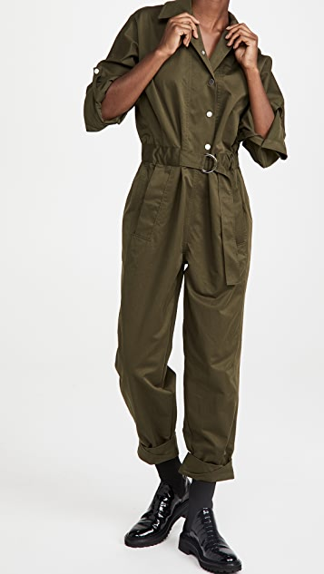 3.1 Phillip Lim Long Sleeve Twill Utility Jumpsuit