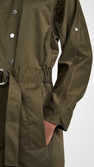 3.1 Phillip Lim Long Sleeve Twill Utility Jumpsuit