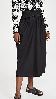 3.1 Phillip Lim Wool Serge Skirt with Folded Waistband