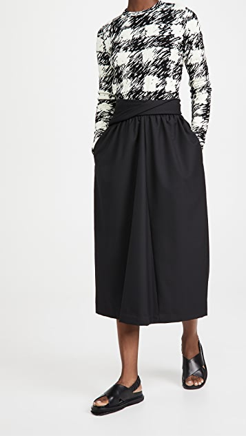 3.1 Phillip Lim Wool Serge Skirt with Folded Waistband