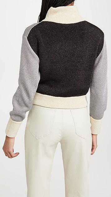 3.1 Phillip Lim 双面金属元素拉链前系扣套头衫
