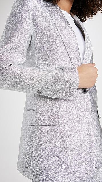 3.1 Phillip Lim Metallic Lame Shawl Lapel Blazer