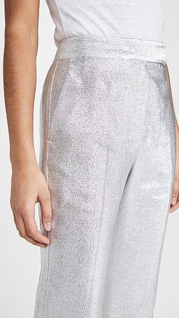 3.1 Phillip Lim Metallic Lame Slim Leg Trousers