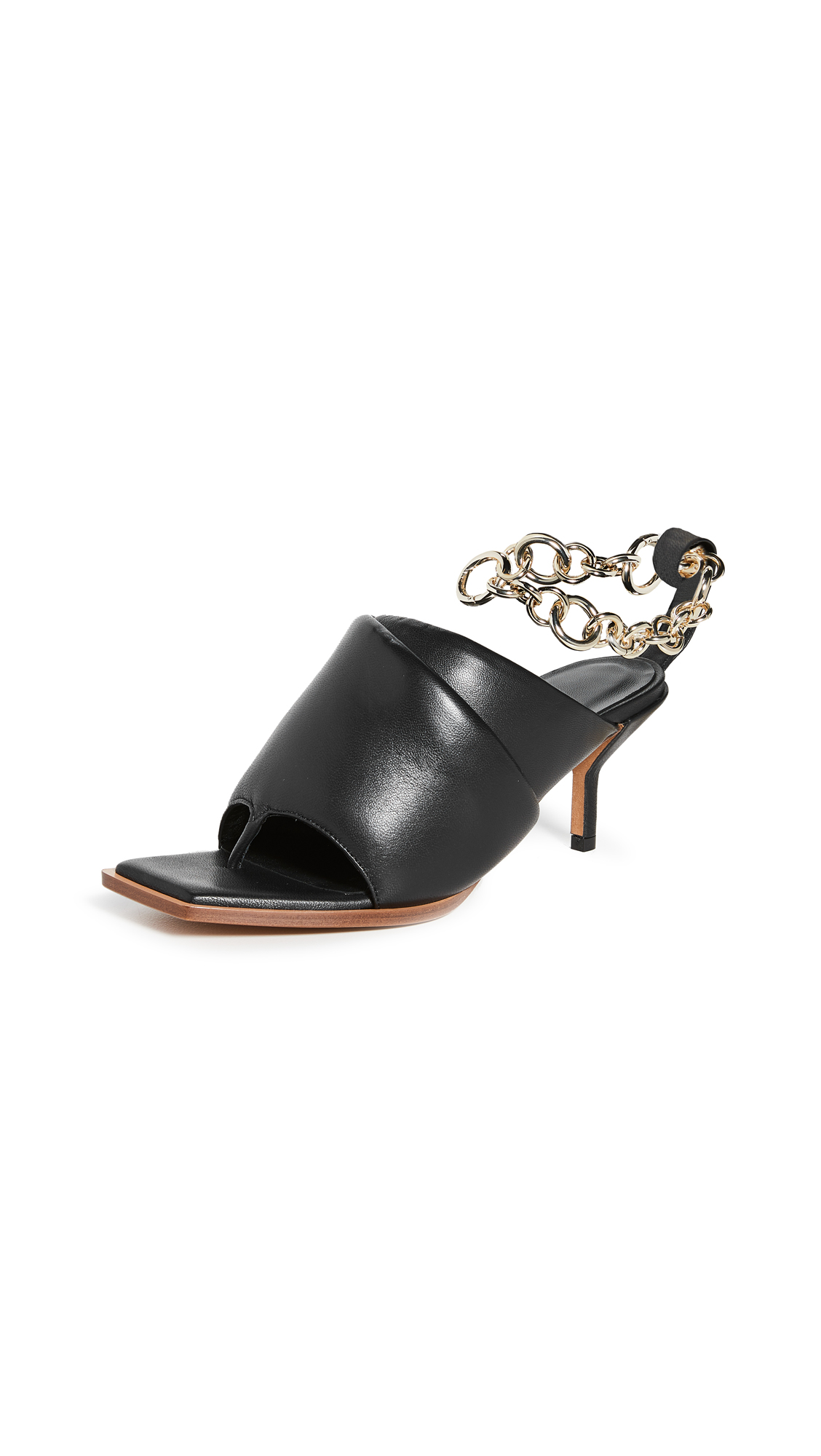 3.1 Phillip Lim Georgia 60mm Padded Mules W Chain