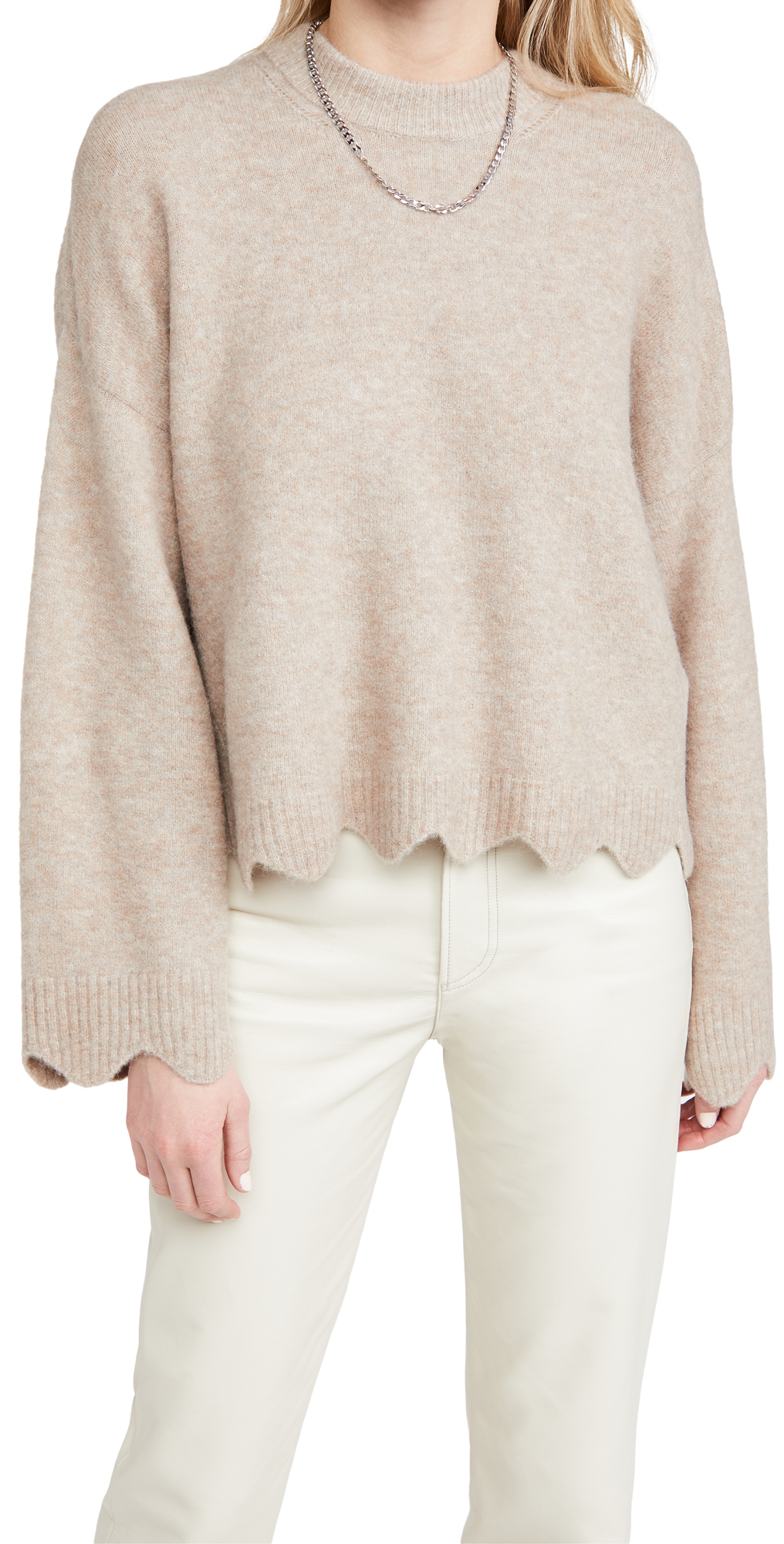 3.1 Phillip Lim Crew Neck Sweater with Scallops