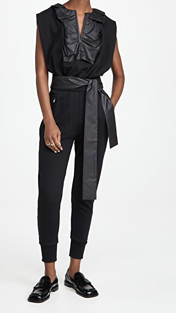 3.1 Phillip Lim French Terry Top with Ruffle Detail