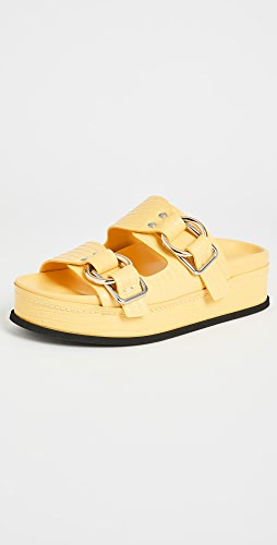 3.1 Phillip Lim - Freida Double Buckle Slides