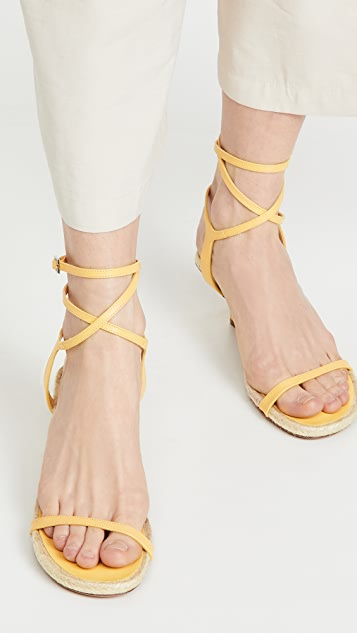3.1 Phillip Lim Yasmine 50mm 麻编平底鞋