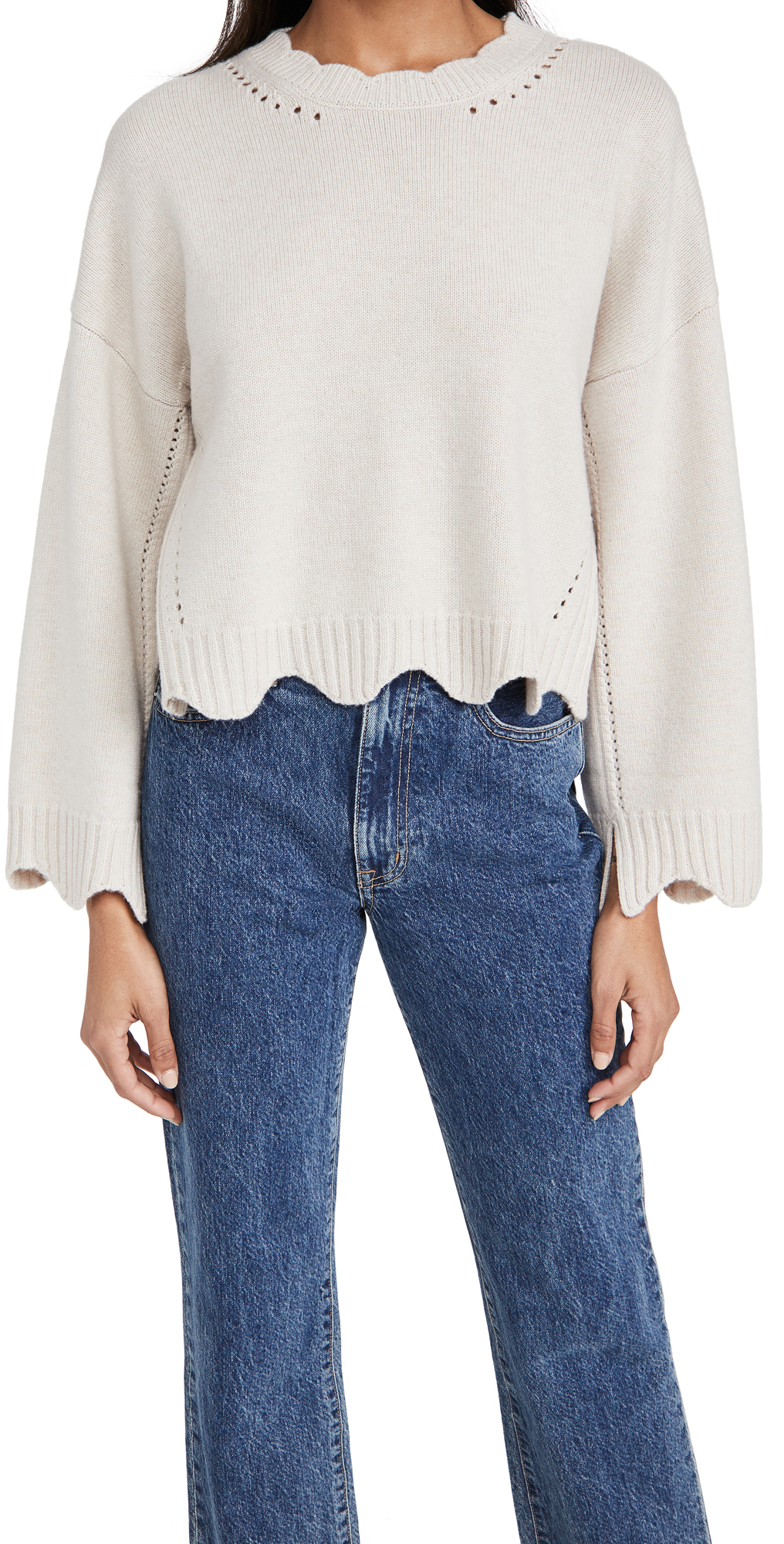 3.1 Phillip Lim Crew Neck Cashmere Blend Sweater