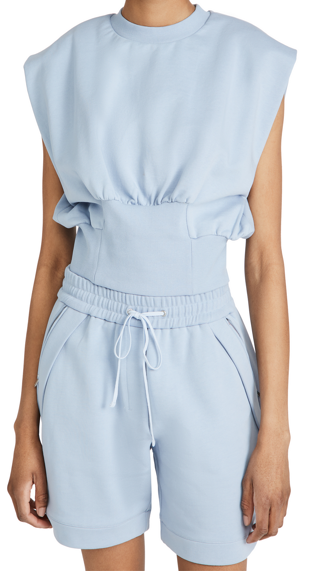 3.1 Phillip Lim Cottons SLEEVELESS FRENCH TERRY TOP
