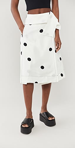 3.1 Phillip Lim - Dot Print Drape Band Skirt