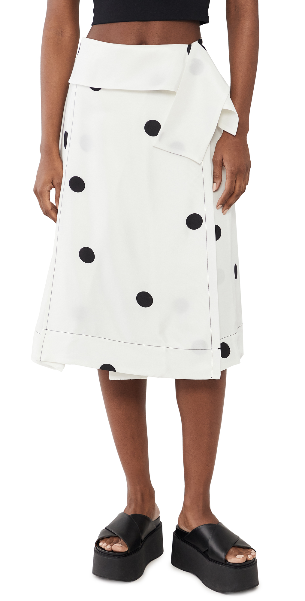 3.1 Phillip Lim Dot Print Drape Band Skirt