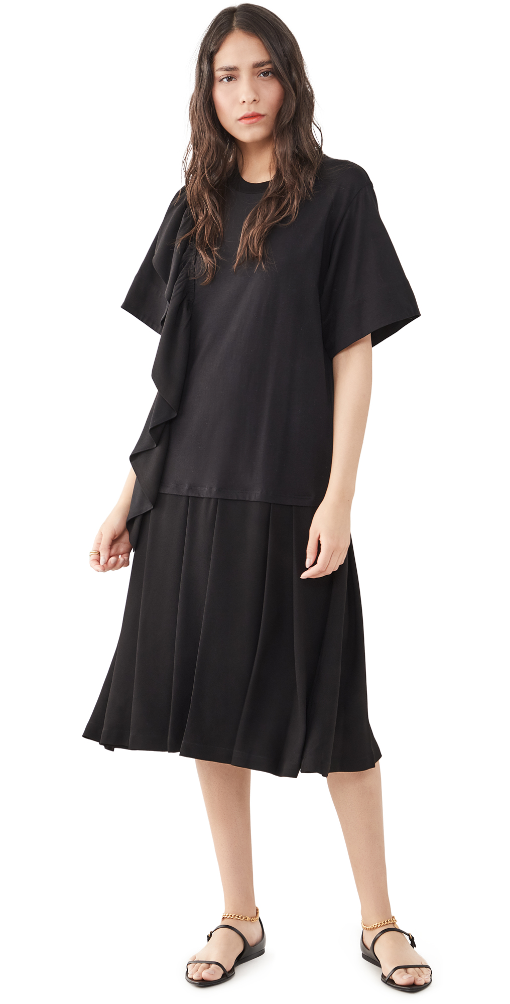 3.1 Phillip Lim Ruffle Combo Dress