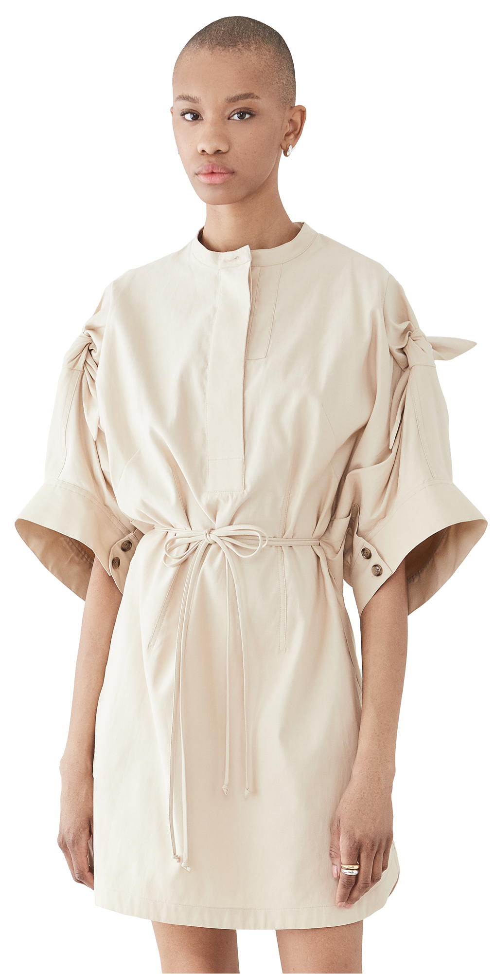 3.1 Phillip Lim KNOTTED SLEEVE MID LENGTH DRESS