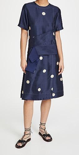 3.1 Phillip Lim - Dot Print Cross Strapped Dress