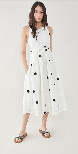 3.1 Phillip Lim - 圆点印花系腰带长连衣裙