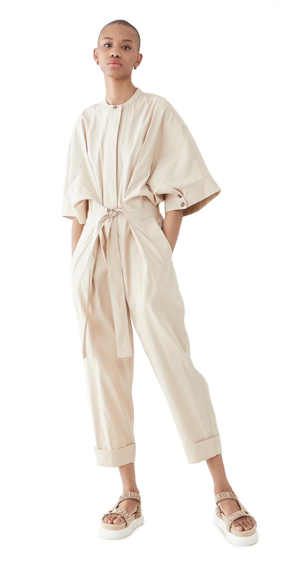 3.1 Phillip Lim JUMPSUIT WITH SMOCKED WAISTBAND