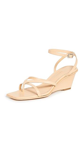 3.1 Phillip Lim Laura Ankle Wrap Wedge Sandals