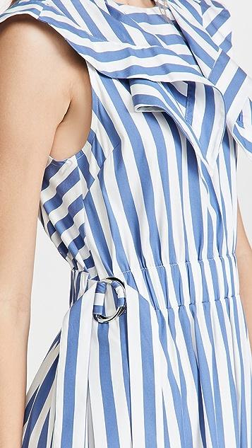 3.1 Phillip Lim Draped Handkerchief Collar Dress