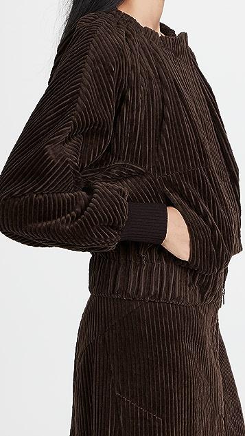3.1 Phillip Lim Utility Corduroy Ruched Collar Jacket