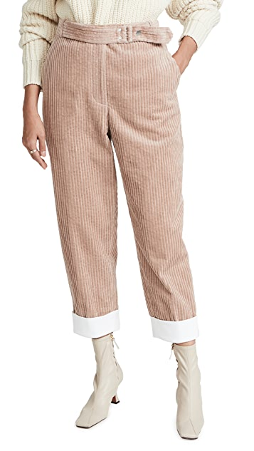 3.1 Phillip Lim Utility Corduroy Buckled Cropped Trousers