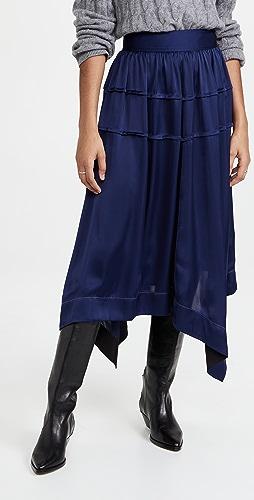 3.1 Phillip Lim - Pin Tucked Asymmetrical Scarf Hem Skirt