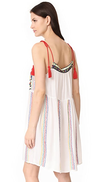 Pia Pauro Embroidered Swing Dress