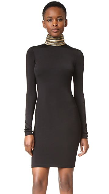 Pierre Balmain Embellished Turtleneck Dress