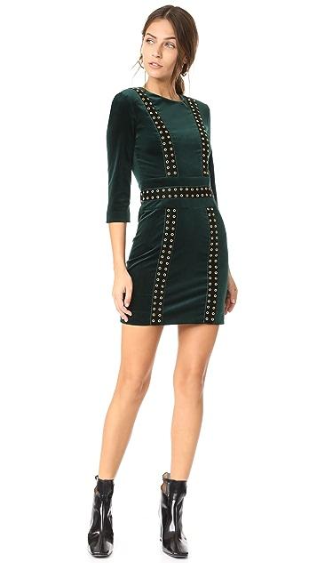 Pierre Balmain Velvet Mini Dress