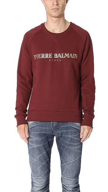 b7f7563e Pierre Balmain Logo Crew Neck Sweatshirt | EAST DANE
