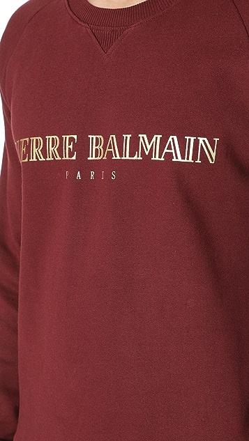 Pierre Balmain Logo Crew Neck Sweatshirt