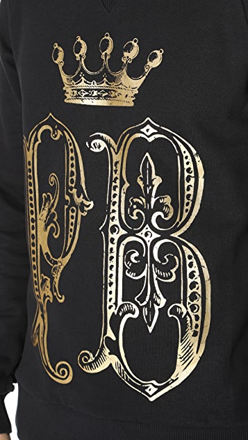 Pierre Balmain Crown Crew Neck Sweatshirt
