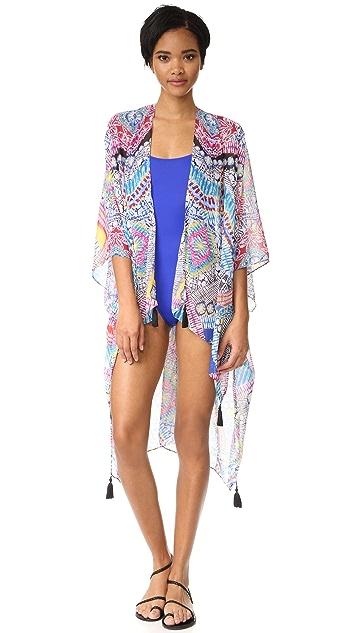 PilyQ Lesa Tassel Kimono