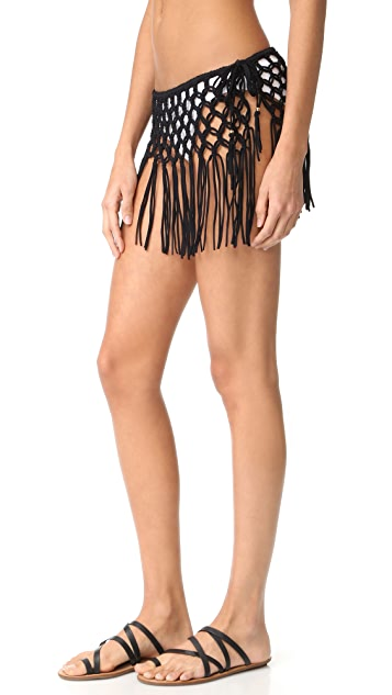 PilyQ Macrame Skirt