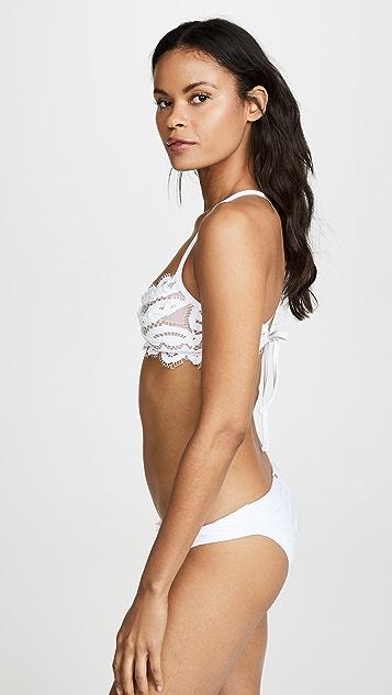 PQ Swim 蕾丝休闲文胸式比基尼式上衣