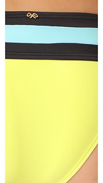 PilyQ Banded Colorblock Full Bikini Bottoms