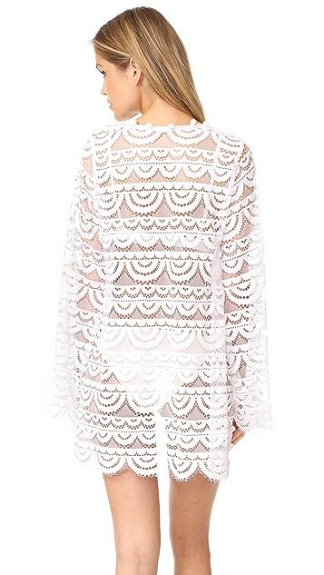 PilyQ Pom Pom Lace Kimono