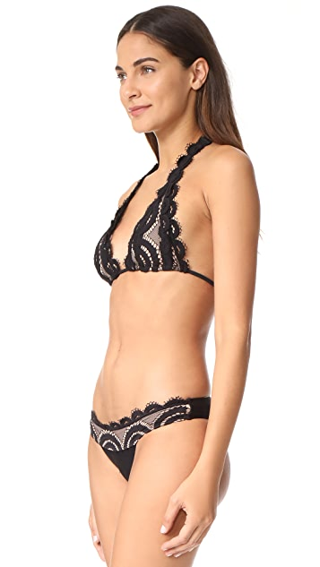 PilyQ Lace Halter Bikini Top