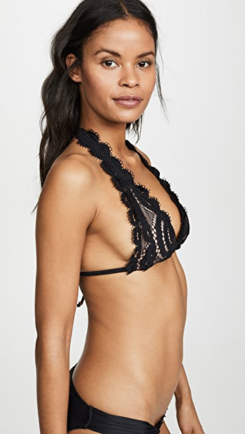 PilyQ Кружевной лиф бикини с завязками за шеей